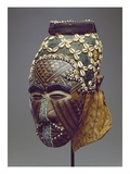 Nagaady-A-Mwaash Mask, Zaire, Kuba Kingdom (Wood, Cowrie Shells and Glass Beads) Premium Giclee Print by  African