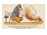 There Was an Old Man of Vesuvius, Who Studied the Works of Vitruvius Giclee Print by Edward Lear