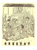 The End of Julius Caesar, Illustration from 'The Comic History of Rome' by Gilbert Abbott a Beckett Giclee Print by  English