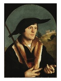 A Pilgrim, C.1530/40 (Oil on Arched Masonite Panel) Giclee Print by Jan van Scorel