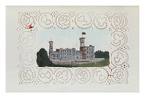Victorian Paper Doyley with a View of Osborne House (W/C on Paper) Giclee Print