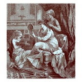 Roman Lady at Her Toilet, Illustration from 'The Illustrated History of the World' Published C.1880 Giclee Print by  English