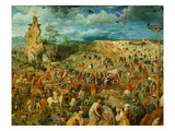 The Road to Calvary, 1564 (Oil on Panel) (Detail of 186439) Giclee Print by Pieter the Elder Bruegel