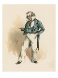 Captain Cuttle, Illustration from 'Character Sketches from Charles Dickens', C.1890 (Colour Litho) Giclee Print by Joseph Clayton Clarke