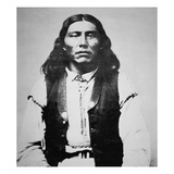 Naiche (D.1874) Chief of the Chiricahua Apaches of Arizona (B/W Photo) Giclee Print by  American Photographer