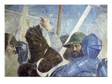 The Legend of the True Cross, the Battle of Heraclius and Chosroes, Detail of Soldiers Giclee Print by  Francesca