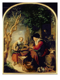 The Pancake Seller, 1650-55 (Oil on Panel) Giclee Print by Gerrit or Gerard Dou