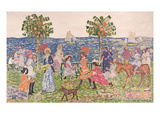 Promenade, 1914/15 (Oil on Canvas) Giclee Print by Maurice Brazil Prendergast
