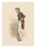 Toots, Illustration from 'Character Sketches from Charles Dickens', C.1890 (Colour Litho) Giclee Print by Joseph Clayton Clarke
