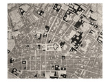 Map of Florence, Detail, 1843 and 1866 (Engraving) (Detail of 100310) Giclee Print by  Fantozzi