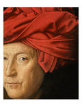 Portrait of a Man, 1433 (Oil on Oak) (Detail of 114025) Giclee Print by Jan Van Eyck