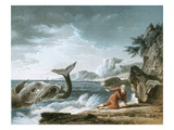Jonah Having Been Vomited Out by the Whale onto Dry Land Giclee Print by J. Vernet
