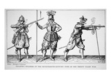 Infantry Soldiers of the Seventeenth Century - Time of the Thirty Years' War (Litho) Giclee Print by  English