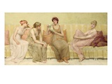 Reading the Story of Oenone, c.1883 Premium Giclee Print by Francis Davis Millet