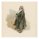 Sergeant Buzfuz, Illustration from 'Character Sketches from Charles Dickens', C.1890 (Colour Litho) Giclee Print by Joseph Clayton Clarke