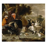 Poultry Yard, c.1668 Giclee Print by Melchior De Hondecoeter