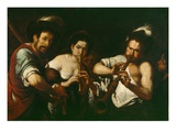 Street Musicians, C.1630 (Oil on Canvas) Giclee Print by Bernardo Strozzi
