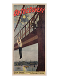 On the Bowery, Steve Brodie's Sensational Leap from Brooklyn Bridge 1886 Giclee Print by  American