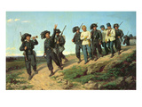 An Italian Rifle Regiment Returning from a Reconnaissance Patrol, 1861 Reproduction procédé giclée par Silvestro Lega