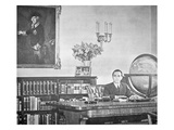 Josef Goebbels in His Office (B/W Photo) Giclee Print by  German photographer