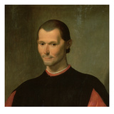 Portrait of Niccolo Machiavelli (1469-1527) (Detail of 62196) Giclee Print by Santi di Tito