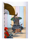 Samurai of Old Japan: Tokugawa Iyeyasu after the Battle of Sekigahara in 1600 (Colour Litho) Giclee Print by  Japanese
