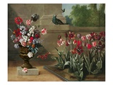 Corner of Monsieur De La Bruyere's Garden, 1744 (Oil on Canvas) Giclee Print by Jean-Baptiste Oudry