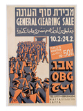 Poster Advertising a General Clearing Sale, C.1947 (Colour Litho) Giclee Print by  Israeli