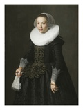 Portrait of a Lady, C.1630 (Oil on Oak Panel) Giclee Print by Nicolaes Eliasz