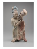 Embracing Couple (Terracotta with Pigments) Giclee Print by  Mayan