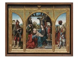 Adoration of the Magi, C.1525 (Oil on Oak Panels) Giclée-Druck von Joos Van Cleve