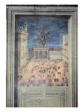 The Fireworks in Piazza Della Signoria, C.1560 (Fresco) Giclee Print by  Italian