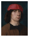 A Young Man in a Red Cap, C.1512 (Oil on Oak Panel) Giclee Print by Michiel Sittow