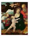 The Holy Family, 1522 (Oil on Panel) Giclee Print by Bernard van Orley