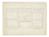 Layout for 'The Course of the Empire', 1833 Reproduction procédé giclée par Thomas Cole