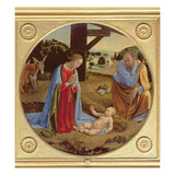 The Nativity (Tempera on Panel) Giclée-tryk af Cosimo Rosselli