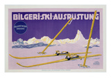Advertisement for Skiing in Austria, C.1912 (Colour Litho) Premium Giclee Print by Carl Kunst