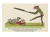 There Was an Old Man with a Poker, Who Painted His Face with Red Ochre Giclee Print by Edward Lear