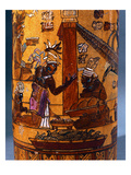 Attendants Bringing Offerings of Food, Decoration from a Cylindrical Vase from Palenque, 559-950 Giclee Print