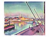 Quai Notre-Dame, Le Havre, 1908 Giclee Print by Georges Dupuis