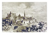 View of Spoleto, Illustration from 'History of Rome' by Victor Duruy, Published 1884 Giclee Print by Charles Barbant