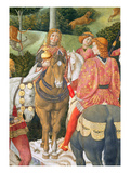 Horsemen in the Royal Entourage, Detail from the Journey of the Magi Cycle in the Chapel, C.1460 Giclee Print by Benozzo di Lese di Sandro Gozzoli