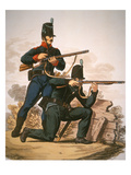 British Riflemen, 1813 (Colour Litho) Giclee Print by  English