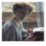 Woman Reading, 1909 Giclee Print by Umberto Boccioni