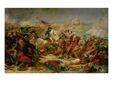 Murat Defeating the Turkish Army at Aboukir on 25 July 1799, C.1805 Premium Giclee Print by Baron Antoine Jean Gros