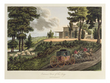 Entrance Front to Tew Lodge Giclee Print by John Claudius Loudon