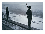 German Sentries on the Ramparts of the Ehrenbreitstein Castle, 1936 Giclée-Druck von  German photographer