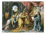 Esther before Ahasuerus Premium Giclee Print by Antoine Coypel