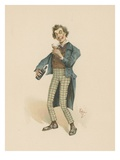 Bob Sawyer, Illustration from 'Character Sketches from Charles Dickens', C.1890 (Colour Litho) Giclee Print by Joseph Clayton Clarke