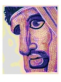 Head in Mosaic, from 'The Battle of Issus', Illustration from 'Historic Ornament' by James Ward Giclee Print by  English